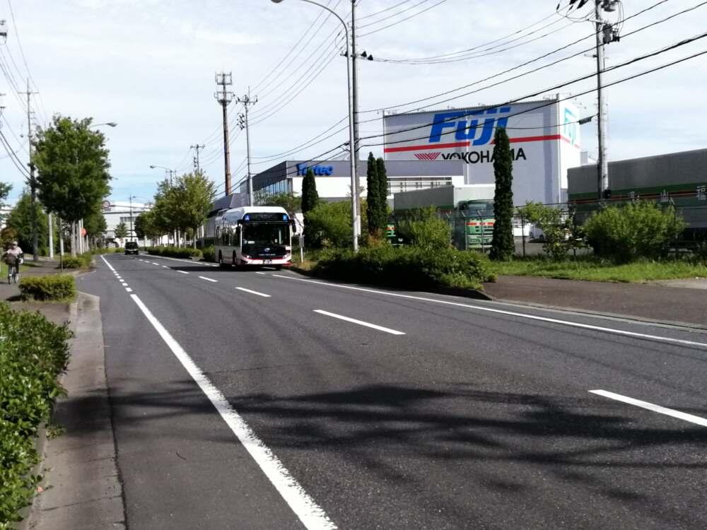 【県内初】未来のバス。宮城交通から燃料電池バスが富谷にやってきた